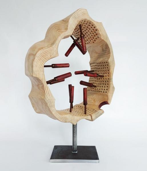 escultura_tronc foradat