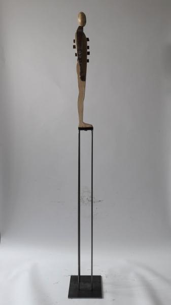 Escultura fusta i ferro_2'