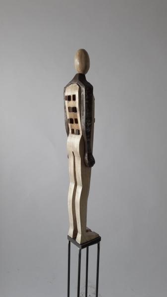 Escultura fusta i ferro_3'