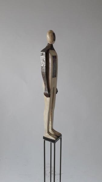 Escultura fusta i ferro_2''