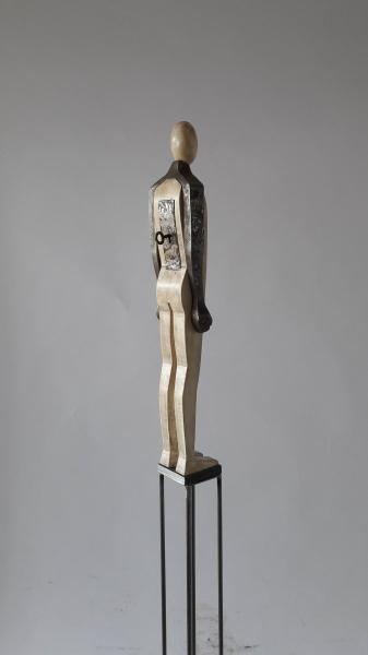 Escultura fusta i ferro_3''